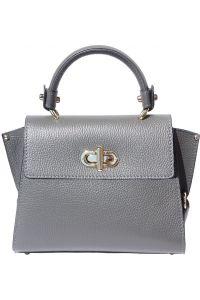 Δερμάτινη Τσάντα Χειρός Sofia Firenze Leather 9134 Γκρι