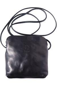 Δερματινο Τσαντακι Ωμου Mia Firenze Leather 8609 Μαύρο