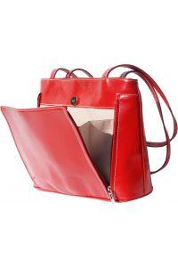 Δερμάτινη Τσαντα Ωμου Ludovica Firenze Leather 215 Σκουρο Κόκκινο