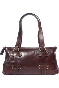 Δερμάτινη Τσάντα Ώμου 3 Θέσεων Firenze Leather 6541 Σκουρο Καφε