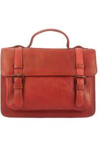 Δερμάτινη Τσάντα Χειρός Nazareth Firenze Leather 68091 Κόκκινο
