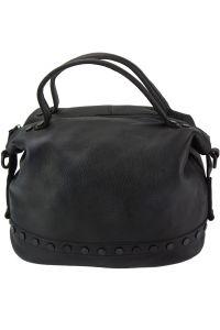 Δερμάτινη Τσάντα Χειρός Olga Firenze Leather 68018 Μαύρο