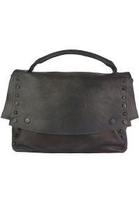 Δερματινη Τσαντα Ταχυδρομου Natalina Firenze Leather 68116 Μαύρο