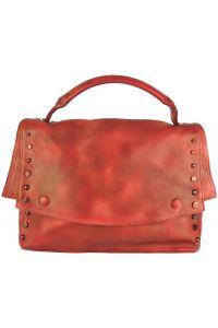 Δερματινη Τσαντα Ταχυδρομου Natalina Firenze Leather 68116 Κόκκινο