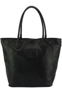 Δερματινη Τσαντα Ωμου Iona Firenze Leather 9123 Μαύρο