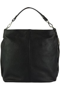 Δερματινη Τσαντα Ωμου Hobo The Donata Firenze Leather 9116 Μαύρο
