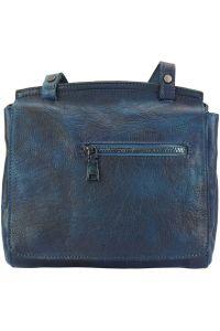 Δερματινη Τσαντα Ταχυδρομου Livio Firenze Leather 68065 Σκουρο Μπλε