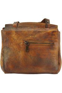 Δερματινη Τσαντα Ταχυδρομου Livio Firenze Leather 68065 Καφε