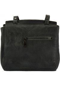 Δερματινη Τσαντα Ταχυδρομου Livio Firenze Leather 68065 Μαύρο