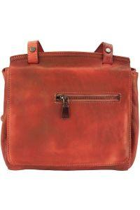 Δερματινη Τσαντα Ταχυδρομου Livio Firenze Leather 68065 Κόκκινο