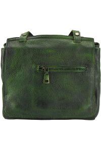 Δερματινη Τσαντα Ταχυδρομου Livio Firenze Leather 68065 Σκουρο Πρασινο