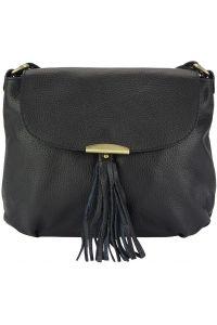 Δερμάτινη Τσάντα Ωμου Angelica Firenze Leather 9113 Μαύρο
