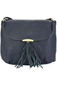 Δερμάτινη Τσάντα Ωμου Angelica Firenze Leather 9113 Σκουρο Μπλε