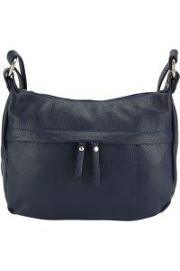 Δερμάτινη Τσάντα Ωμου Delizia Firenze Leather 9112 Σκουρο Μπλε