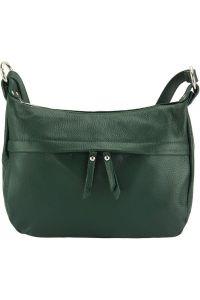 Δερμάτινη Τσάντα Ωμου Delizia Firenze Leather 9112 Σκουρο Πρασινο