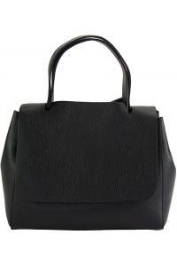 Δερματινη Τσαντα Χειρος Gaia Firenze Leather 9111 Μαύρο