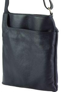 Δερματινο Τσαντακι Ωμου Gioia Firenze Leather 418 Σκουρο Μπλε