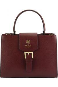 Δερμάτινη Τσάντα Χειρός Vittoria Firenze Leather 305 Μπορντο