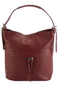 Δερμάτινη Τσάντα Χειρός Letizia Firenze Leather 9109 Σκουρο Κόκκινο