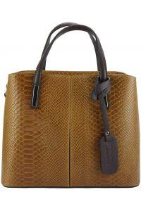 Δερμάτινη Τσάντα Χειρός Vanessa Firenze Leather 7005 Μπεζ