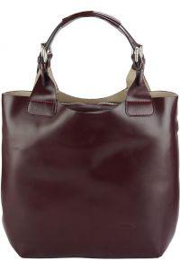 Δερμάτινη Τσάντα Χειρός Beatrice Firenze Leather 218 Μπορντο