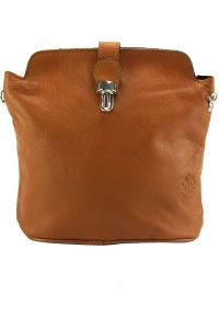 Δερματινο Τσαντακι Ωμου Clara Firenze Leather 402 Μπεζ
