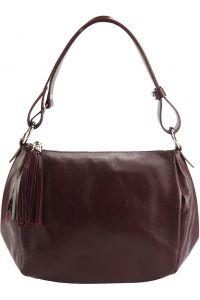 Δερμάτινη Τσάντα Ωμου Luisa Firenze Leather 6118 Μπορντο