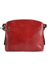 Δερμάτινη Τσάντα Ωμου Viviana V Firenze Leather 6569 Κόκκινο