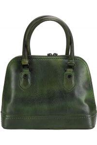 Τσαντα Χειρος Δερματινη Firenze Leather 68126 Σκουρο Πρασινο