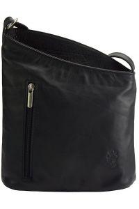 Δερματινη Τσαντα Ωμου Miriam Firenze Leather 407 Μαύρο