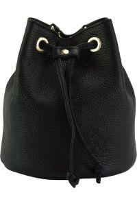 Δερματινη Τσαντα Ωμου Ilaria Firenze Leather 9124 Μαύρο