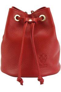 Δερματινη Τσαντα Ωμου Ilaria Firenze Leather 9124 Κόκκινο