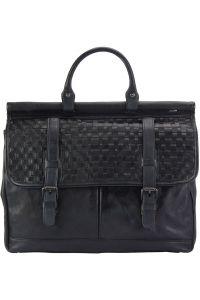 Δερματινος Χαρτοφυλακας Florine Firenze Leather 68155 Μαύρο