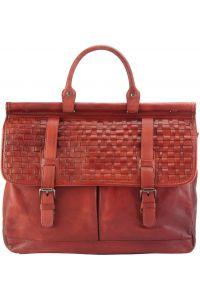 Δερματινος Χαρτοφυλακας Florine Firenze Leather 68155 Κόκκινο