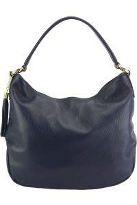 Δερματινη Τσαντα Ωμου Hobo Selene Firenze Leather 5759 Σκουρο Μπλε