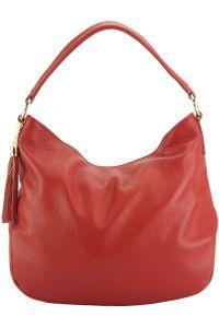 Δερματινη Τσαντα Ωμου Hobo Selene Firenze Leather 5759 Κόκκινο