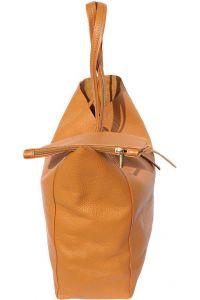 Δερματινη Τσαντα Ωμου Babila Firenze Leather 9121 Μπεζ