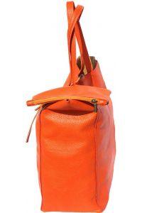 Δερματινη Τσαντα Ωμου Babila Firenze Leather 9121 Πορτοκαλι
