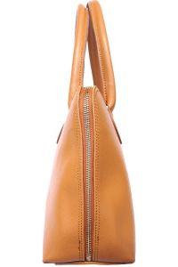 Δερμάτινη Τσάντα Χειρός Giulia GM Firenze Leather 308 Μπεζ