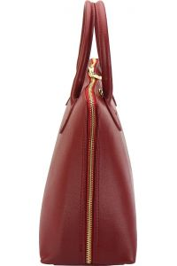 Δερμάτινη Τσάντα Χειρός Giulia GM Firenze Leather 308 Σκουρο Κόκκινο