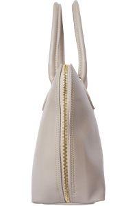 Δερμάτινη Τσάντα Χειρός Giulia GM Firenze Leather 308 Γκρι