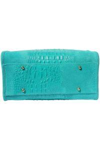 Δερματινη Τσαντα Χειρος Emma Firenze Leather 7002 Τυρκουαζ
