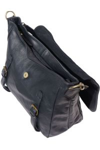 Δερματινη Τσαντα Ωμου Freestyle Firenze Leather 6141 Μαύρο