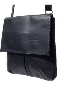 Τσαντα Ωμου Δερματινη Oriana Firenze Leather 2086 Μαύρο