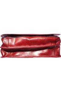 Δερματινη Τσαντα Ταχυδρομου Mirko GM Firenze Leather 6517 Κόκκινο