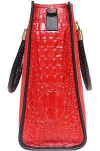 Δερμάτινη Τσαντα Tote Χειρος Firenze Leather 7004 Κόκκινο