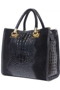 Δερμάτινη Τσαντα Tote Χειρος Firenze Leather 7004 Μαύρο