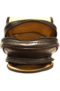 Δερματινο Τσαντακι Ωμου Αντρικό Firenze Leather 7624 Μαύρο