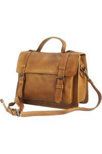 Δερμάτινη Τσάντα Χειρός Nazareth Firenze Leather 68091 Μπεζ
