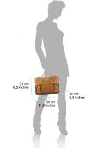 Δερμάτινη Τσάντα Χειρός Nazareth Firenze Leather 68091 Καφε